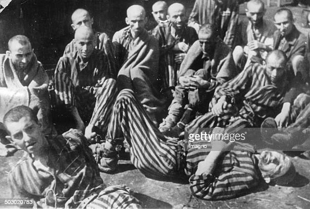 Prisoners in the concentration camp Terezin after the liberation Czechoslovakia Photograph 1945