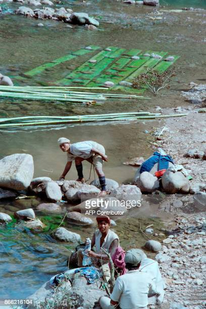 Prisoners of Burma's gulag work on February 6 1993 in a labour camp at Tar Kyauk an eastern Burma jungled and malariainfested area The camps are...