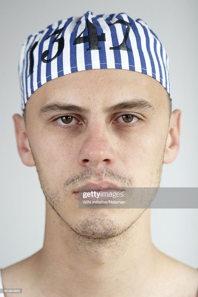 Prisoner's portrait : Stock Photo