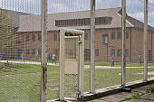 Prisones during movement to the workshops at HMP YOI Littlehey Littlehey is a purpose build category C prison