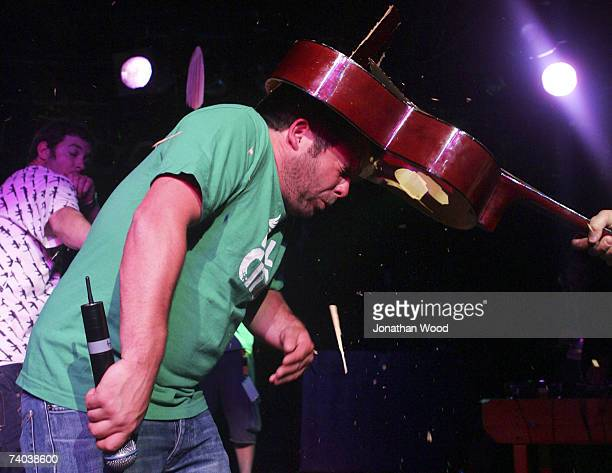 Pritchard Dainton Pancho and Joyce of The Dirty Sanchez perform on stage on the first Australian leg of their 'Dirty Sanchez Live' Tour at The Arena...