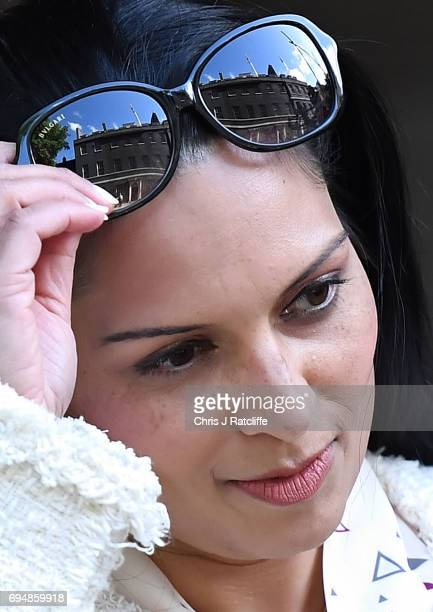 Priti Patel arrives at 10 Downing Street on June 11 2017 in London England Prime Minister Theresa May Reshuffles her cabinet after the snap general...