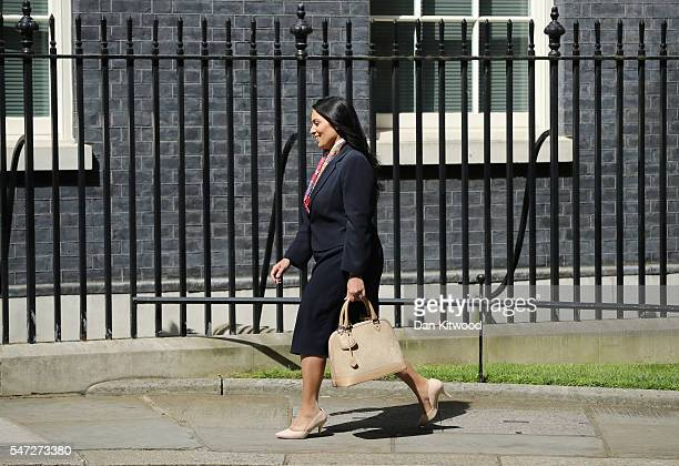 Priti Patel arrives at Downing Street where she was appointed as International Development Secretary as Prime Minister Theresa May continues to...