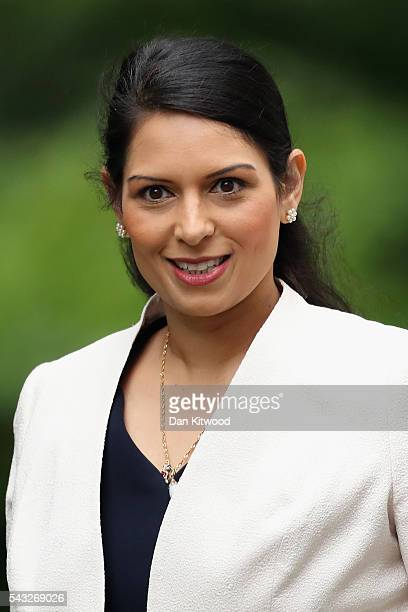 Priti Patel Minister of State for Employment arrives for a cabinet meeting at Downing Street on June 27 2016 in London England British Prime Minister...