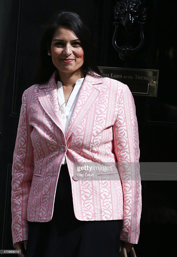 Priti Patel, the newly appointed employment minister, arrives at Downing Street on May 11, 2015 in London, England. Prime Minister David Cameron continued to announce his new cabinet with many ministers keeping their old positions.