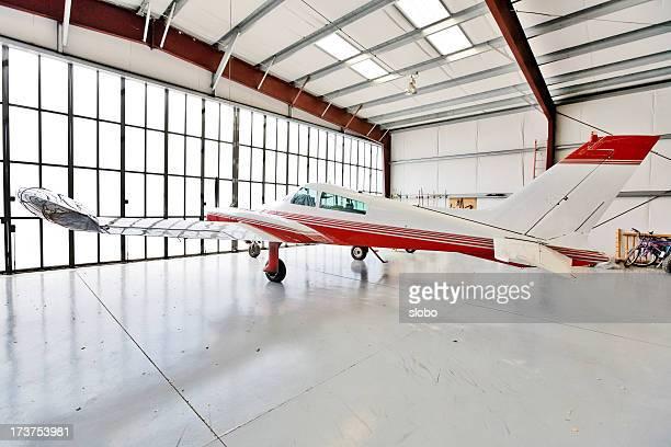 Privatflugzeug geparkt