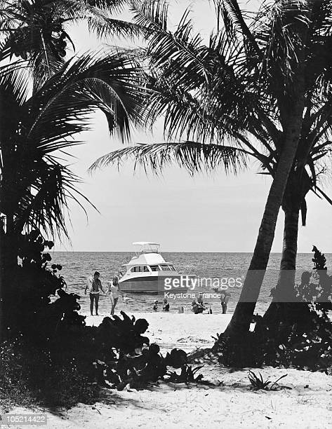 Private Beach In Florida In The 50'S