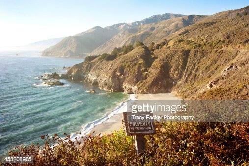 A private beach on Big Sur