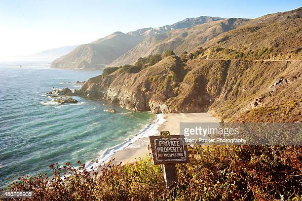 A private beach on Big Sur