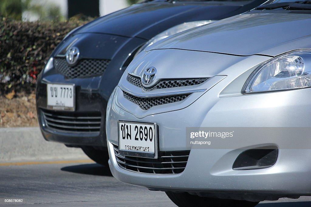 Private car, Toyota Vios. : Stock Photo