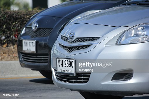 Private car, Toyota Vios. : Stock Photo
