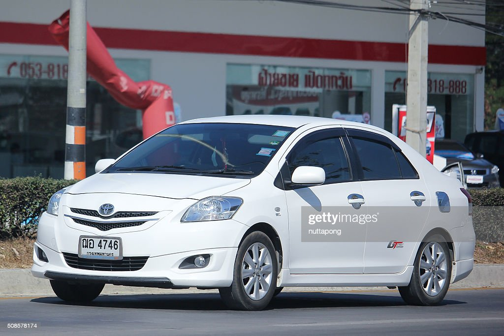 Private car, Toyota Vios. : Bildbanksbilder
