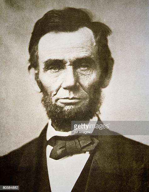 Abraham Lincoln (1809-65) 1863 (b/w photo)