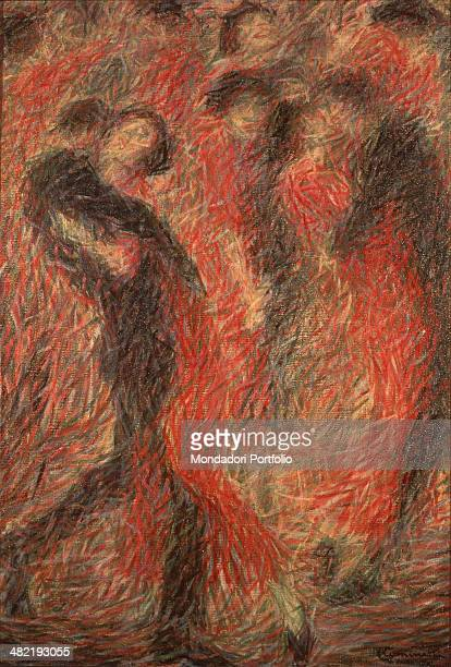 Private collection Whole artwork view Composition of couples of tango dancers