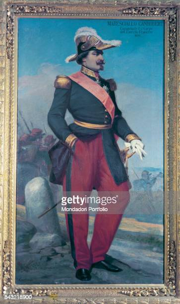 Private Collection Whole artwork view Portrait of French general and field marshal Francois Certain de Canrobert in dress uniform