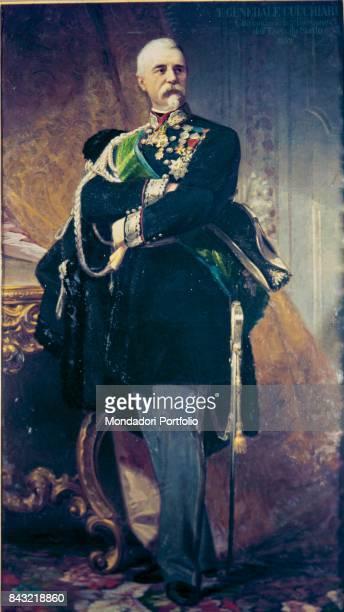 Private Collection Whole artwork view Portrait of Italian general and politician Domenico Cucchiari in dress uniform