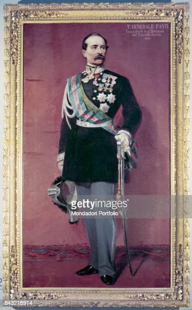 Private Collection Whole artwork view Portrait of Italian general and politician Manfredo Fanti in dress uniform