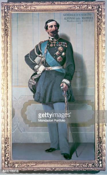 Private Collection Whole artwork view Portrait of Italian general and politician Alfonso La Marmora in dress uniform