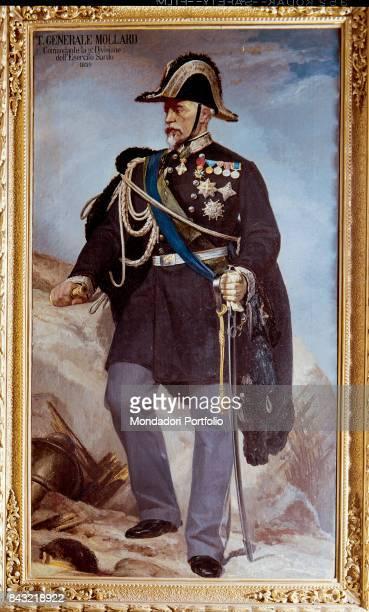 Private Collection Whole artwork view Portrait of Italian general Filiberto Mollard in dress uniform