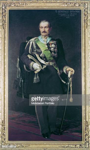Private Collection Whole artwork view Portrait of Italian patriot general and politician Giovanni Durando in dress uniform