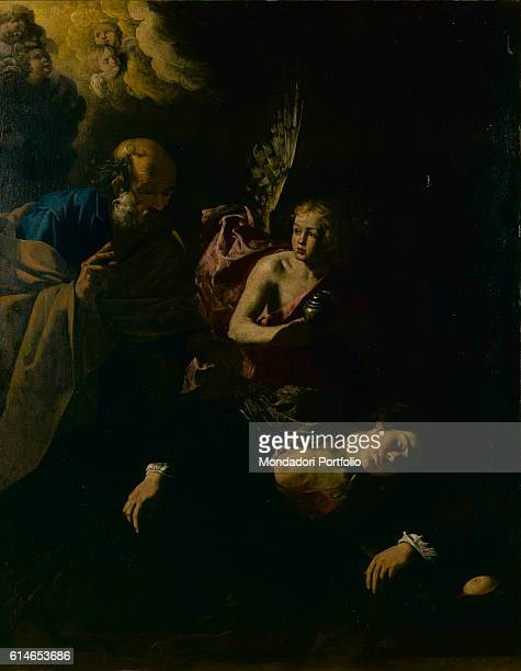Private CollectionSaint Peter visiting Saint Agatha kept in prison beside an angel