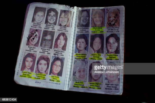 A private detective's notebook on women who have gone missing along Canada's Route 16 shows some of the murder investiagtions of indegenous women on...