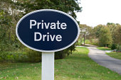 Private Drive sign telling