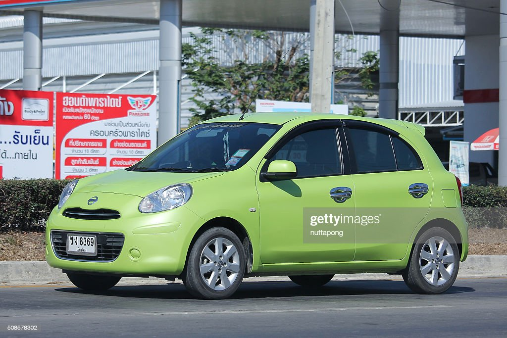Private Eco car, Nissan March. : Stockfoto
