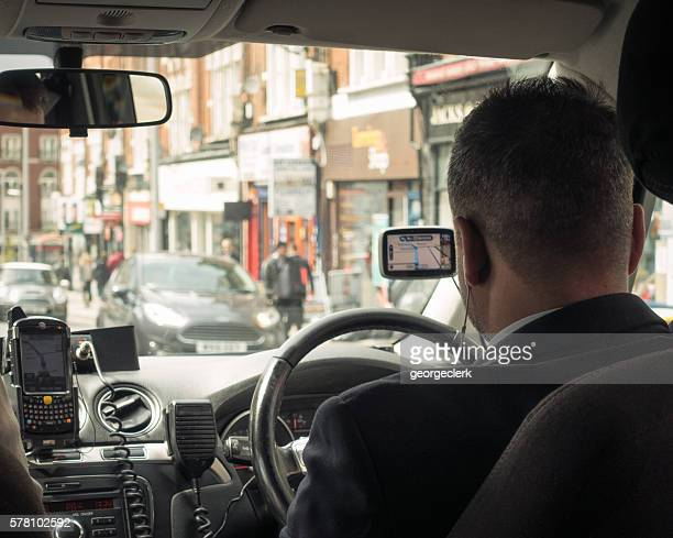 Private hire taxi journey in London