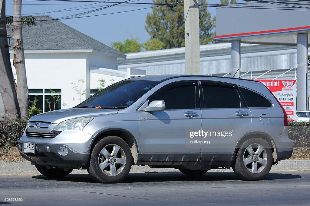 Private Honda CRV suv car. : Stock Photo