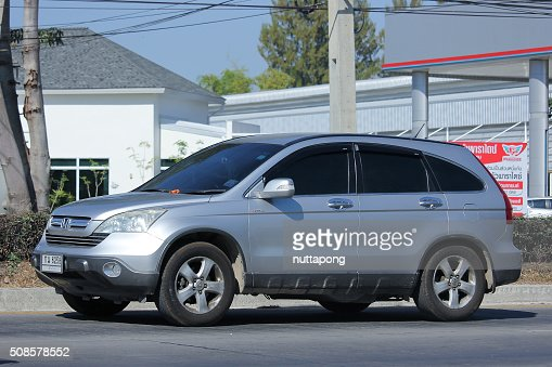 Private Honda CRV suv car. : Bildbanksbilder