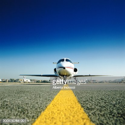 Private Jet Aircraft On Tarmac Stock Photo  Getty Images