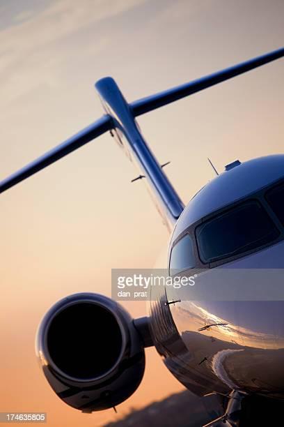 Gros plan Jet privé