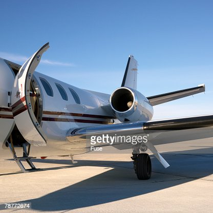 Private Jet On Tarmac Stock Photo  Getty Images