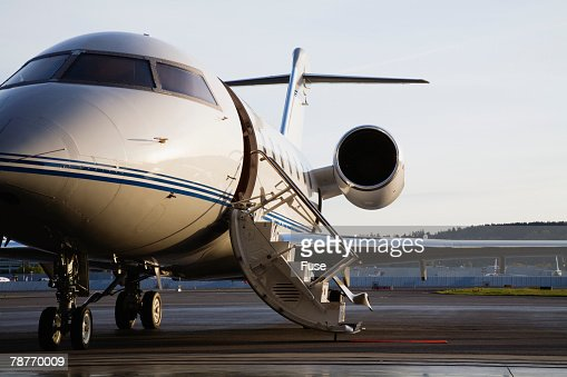Private Jet Parked On Tarmac Stock Photo  Getty Images