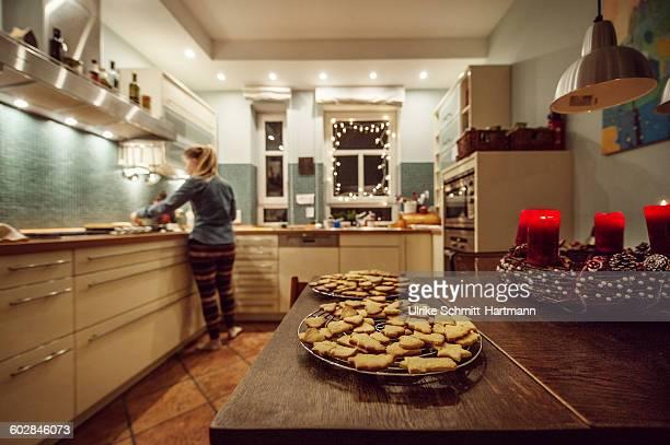 Private kitchen in Christmas season