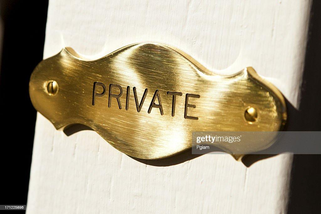 Private member plaque