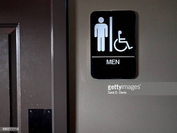 A private men's bathroom is offered at Bull McCabes Irish Pub on May 10 2016 in Durham North Carolina Debate over transgender bathroom access spreads...