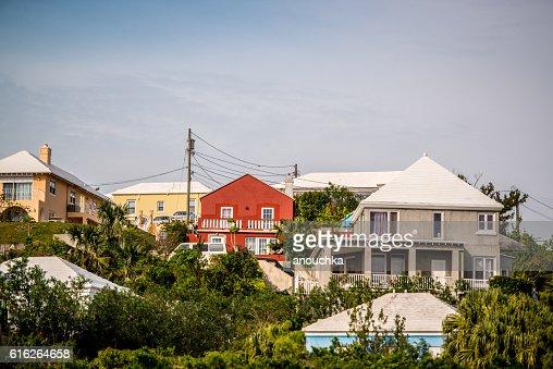 Private residences on Bermuda : Stock Photo