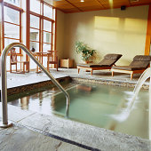 Private soaking pool at health spa