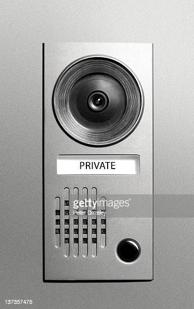Private video door entry camera