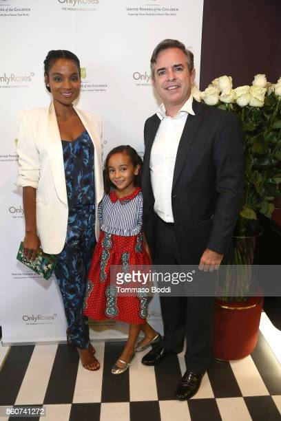 Private Wealth Advisor Robert Daly Jr Beatrice Daly and Krishna Daly attend the Tracy Paul Company for Only Roses Launch Beverly Hills on October 12...