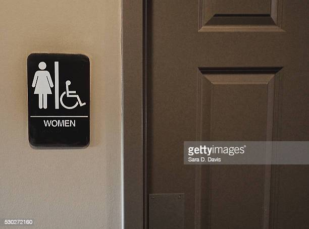 A private women's bathroom is offered at Bull McCabes Irish Pub on May 10 2016 in Durham North Carolina Debate over transgender bathroom access...