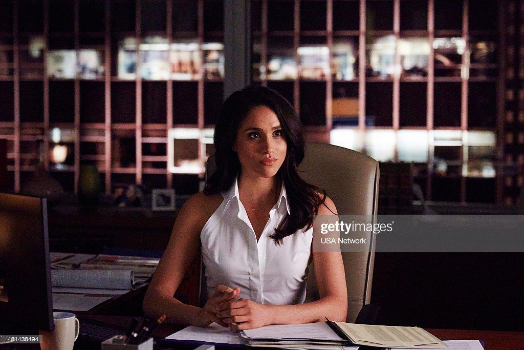 SUITS -- 'Priviledge' Episode 506 -- Pictured: Meghan Markle as Rachel Zane --