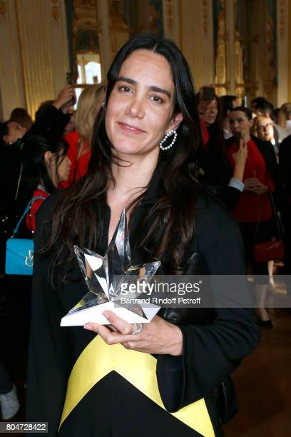 'Prix Accessoires de Mode' Jewelry Designer Ana Khouri attends the ANDAM 2017 Prize Winner Cocktail at Ministere de la Culture on June 30 2017 in...
