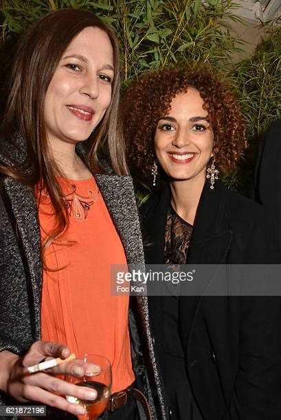 Prix de Flore 2016 awarded writer Nina Yargekov and Goncourt 2016 awarded writer Leila Slimani attend the 'Prix De Flore 2016 ' Literary Prize Winner...
