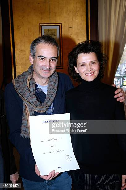 'Prix Louis Delluc' award Director Olivier Assayas for the movie 'Sils Maria' and actress of 'Sils Maria' Juliette Binoche attend the 72th 'Prix...
