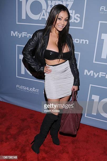 Priya Rai attends the 10th Annual XBIZ Awards at The Barker Hanger on January 10 2012 in Santa Monica California