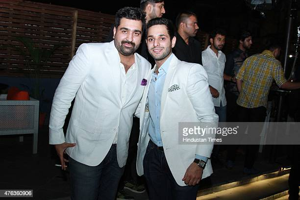Priyank Sukhija coowner Hybrid and Vaibhav Sachdev during the launch party of a new restaurant Hybrid on June 5 2015 in New Delhi India