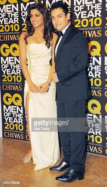 Priyanka Chopra and Aamir Khan at the 'GQ Men of the Year Awards 2010' in Mumbai on September 26 2010